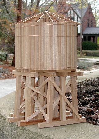 Water Tower Design Plans Garden railway water tower project